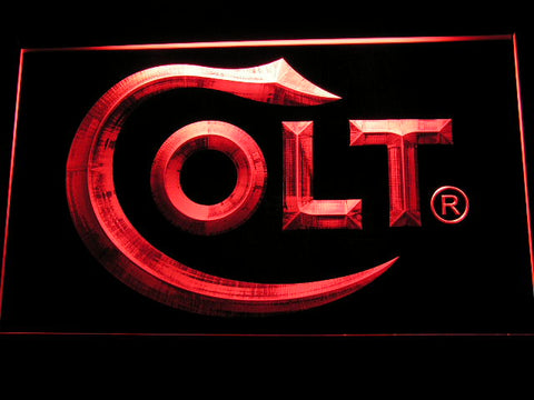 FREE Colt Firearms LED Sign - Red - TheLedHeroes