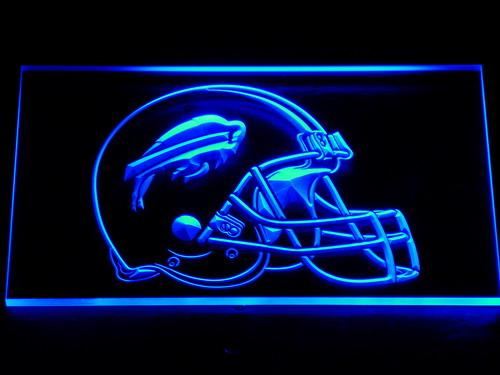 Buffalo Bills Helmet LED Neon Sign Electrical - Blue - TheLedHeroes