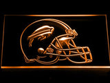 Buffalo Bills Helmet LED Neon Sign Electrical - Orange - TheLedHeroes