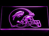 Buffalo Bills Helmet LED Neon Sign Electrical - Purple - TheLedHeroes
