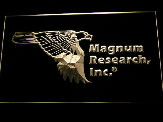 FREE Magnum Research Inc. LED Sign - Yellow - TheLedHeroes