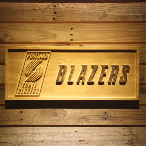 Portland Trail Blazers Wooden Sign