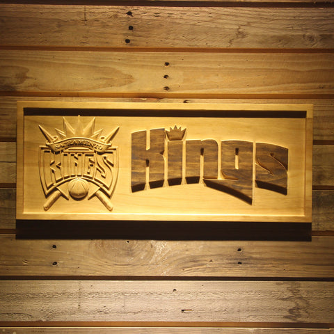 Sacramento Kings Wooden Sign