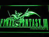 Final Fantasy III LED Neon Sign Electrical - Green - TheLedHeroes