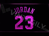 FREE Michael Jordan 23 LED Sign - Purple - TheLedHeroes