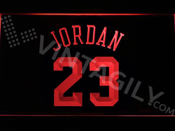FREE Michael Jordan 23 LED Sign - Red - TheLedHeroes