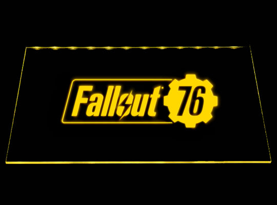 Fallout 76 LED Sign - Yellow - TheLedHeroes