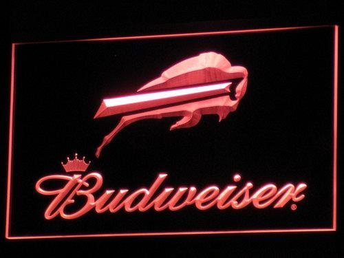 Buffalo Bills Budweiser LED Neon Sign Electrical - Red - TheLedHeroes