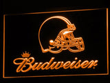 Cleveland Browns Budweiser LED Neon Sign USB - Orange - TheLedHeroes
