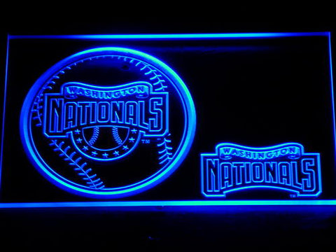 FREE Washington Nationals (2) LED Sign - Blue - TheLedHeroes