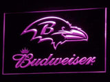 Baltimore Ravens Budweiser LED Neon Sign USB - Purple - TheLedHeroes