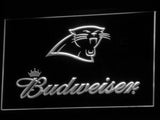 Carolina Panthers Budweiser LED Neon Sign USB - White - TheLedHeroes
