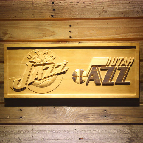 Utah Jazz Wooden Sign