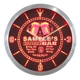Home Bar Bar Pub Kitchen LED Wall Clock - Red - TheLedHeroes
