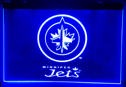 FREE Winnipeg Jets LED Sign - Blue - TheLedHeroes