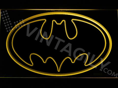 Batman LED Sign - Yellow - TheLedHeroes