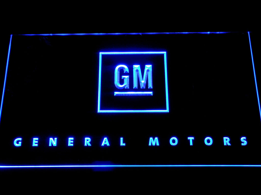 General motor LED Neon Sign USB - Blue - TheLedHeroes