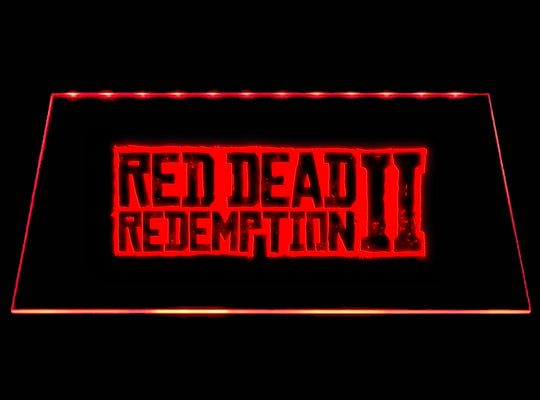 Red Dead Redemption 2 LED Sign - Red - TheLedHeroes