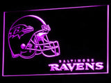 Baltimore Ravens (4) LED Neon Sign USB - Purple - TheLedHeroes