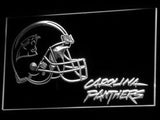 Carolina Panthers (3) LED Neon Sign USB - White - TheLedHeroes