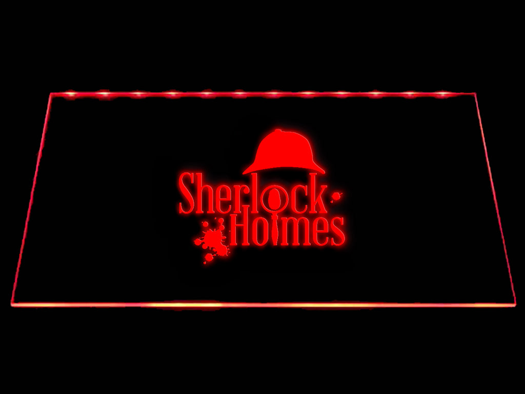 FREE Sherlock Holmes (2) LED Sign - Red - TheLedHeroes