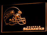 Seattle Seahawks (3) LED Neon Sign USB - Orange - TheLedHeroes