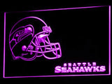 Seattle Seahawks (3) LED Neon Sign USB - Purple - TheLedHeroes