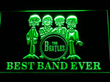 The Beatles Best Band Ever 3 LED Sign - Green - TheLedHeroes