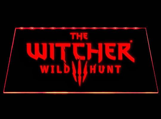 The Witcher Wild Hunt LED Sign - Red - TheLedHeroes