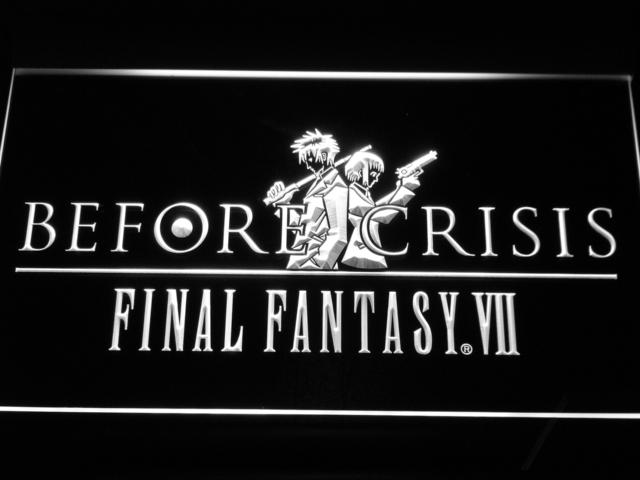 Final Fantasy VII Before Crisis LED Neon Sign USB - White - TheLedHeroes