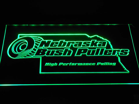 FREE Nebraska Bush Pullers LED Sign - Green - TheLedHeroes