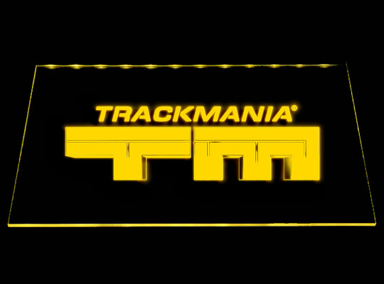 Trackmania (2) LED Sign - Yellow - TheLedHeroes