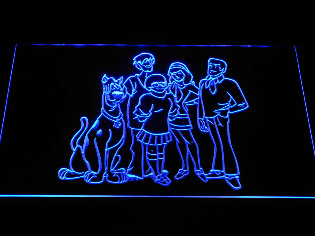 Scooby-doo! (2) LED Neon Sign USB - Blue - TheLedHeroes