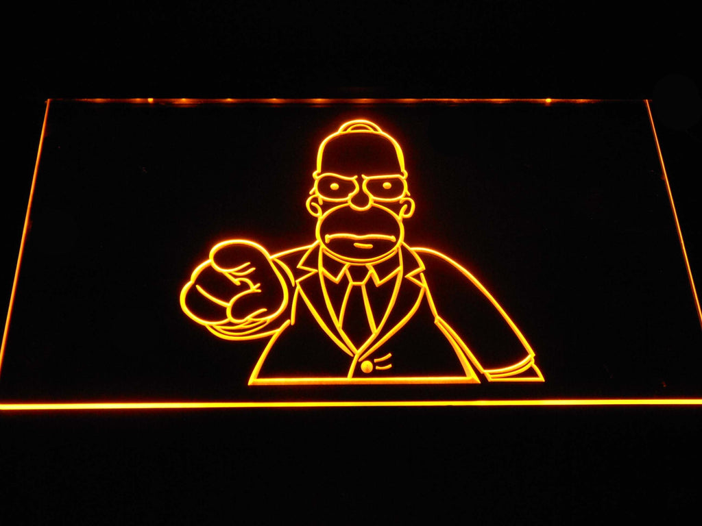 Homer Simpsons LED Neon Sign USB - Yellow - TheLedHeroes