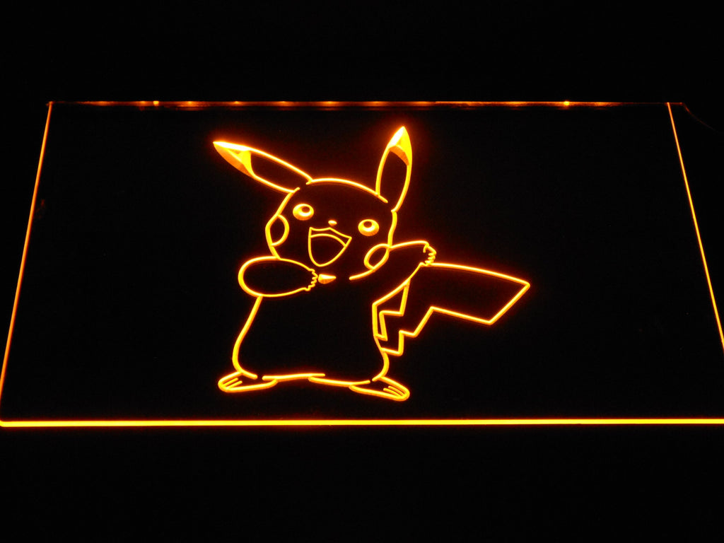 Pikachu LED Neon Sign USB - Yellow - TheLedHeroes