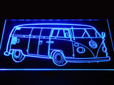 FREE Volkswagen Bus LED Sign - Blue - TheLedHeroes