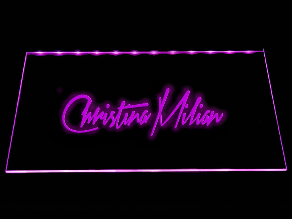 Christina Milian LED Neon Sign USB - Purple - TheLedHeroes
