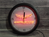 Chevrolet Corvette LED Wall Clock - Multicolor - TheLedHeroes