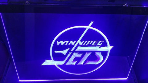FREE Winnipeg Jets (2) LED Sign - Blue - TheLedHeroes