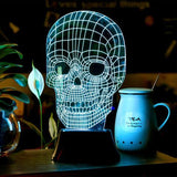Wood Skull 3D LED LAMP -  - TheLedHeroes