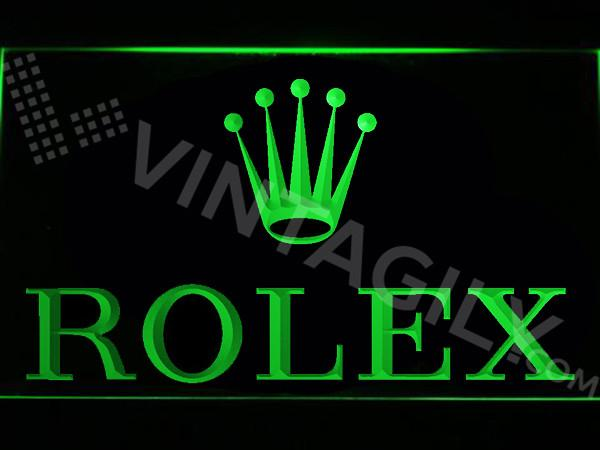 Rolex LED Neon Sign USB - Green - TheLedHeroes