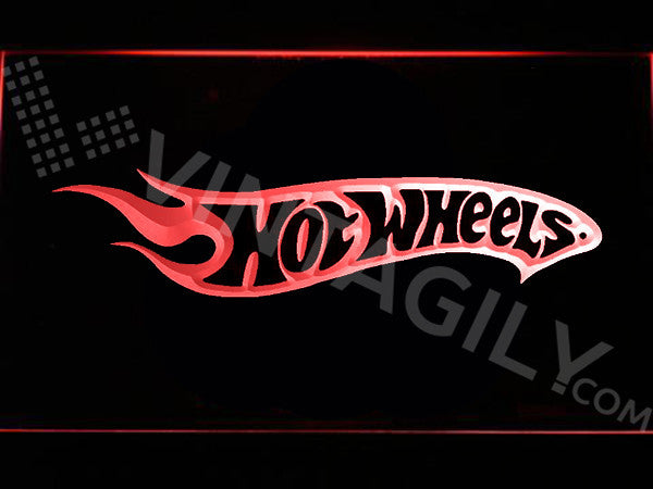 FREE Hot Wheels LED Sign - Red - TheLedHeroes