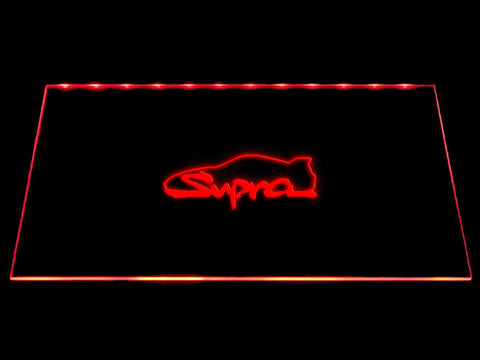 FREE Toyota Supra LED Sign - Red - TheLedHeroes