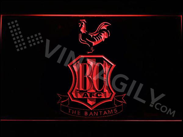 Bradford City AFC LED Neon Sign USB - Red - TheLedHeroes
