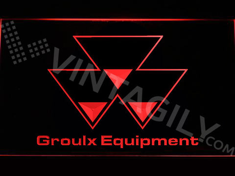 FREE Groulx Equipment LED Sign - Red - TheLedHeroes