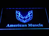 FREE American Muscle Cars LED Sign - Blue - TheLedHeroes