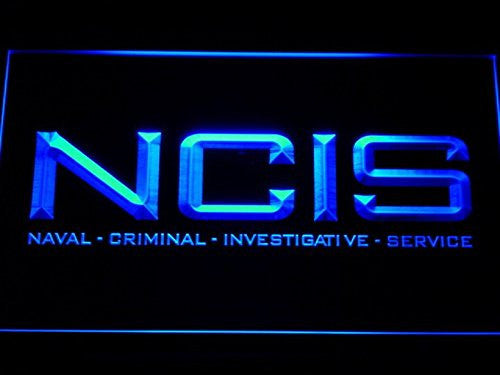 NCIS Naval Criminal Investigative 2 LED Sign - Blue - TheLedHeroes