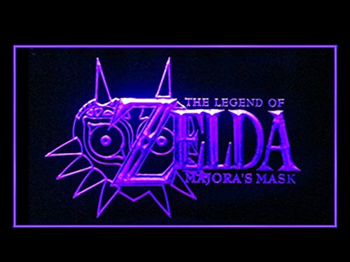 FREE Legend Of Zelda Majora's Mask LED Sign - Purple - TheLedHeroes