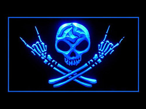 Man Cave Skull Bro LED Sign - Blue - TheLedHeroes