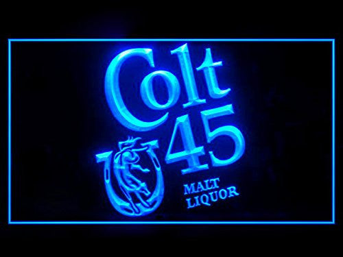 FREE Colt 45 Malt Liquor LED Sign - Blue - TheLedHeroes